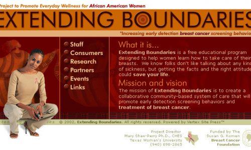 Extending Boundaries Website Design 1