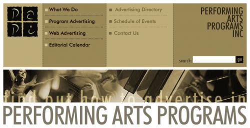 Performace Arts Programs Website Design 3