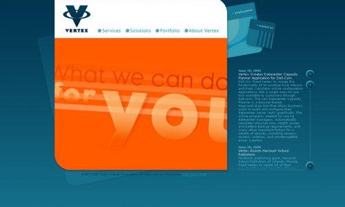 Vertex.com Website Design 5